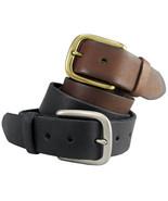 """Mens Vintage Genuine Full Grain Jean Belt 1-1/2"""" wide New Black Brown Tan - $19.95"""