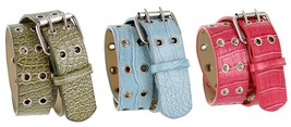 Super7 Alligator Embossed Casual two row holes ... - $0.99
