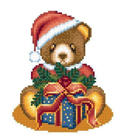 Santa teddy bear 2657