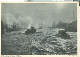 Germany, Hamburg, India-Hafen unused Postcard - $8.25