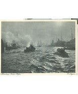 Germany, Hamburg, India-Hafen unused Postcard - $8.25
