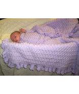 Lavender Hand Crocheted Baby Blanket - $50.00
