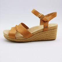 UGG Womens Berryessa Sling Back Wedge Sandal Tan Cork Heel Buckle Strap 10M - $42.56