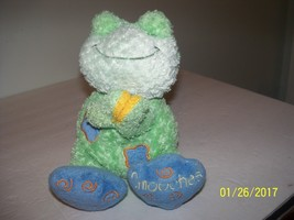plush praying frog stuffed reptile animal says now i lay myself to sleep... - $24.75