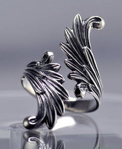Saint Michael the Archangel Wings Ring Sterling Silver .925 jewelry - $49.66