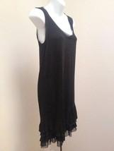 Kensie S Dress Black Shift Tiered Ruffled Sleeveless Cocktail - $23.49