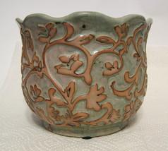Ornate Filigree Ceramic Bowl Small - $44.54