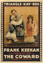 THE COWARD (1915) One-Sheet Historic Silent Film Civil War Drama Thomas ... - $1,995.00