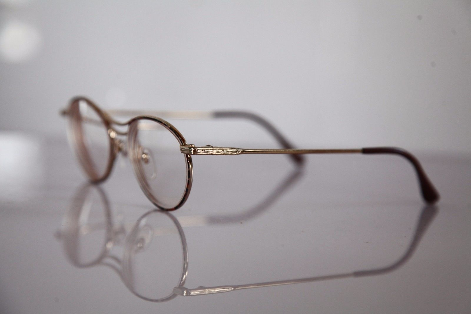 Mc PENNY Eyewear, Gold Frame,  RX-able Clear Lenses Prescription.