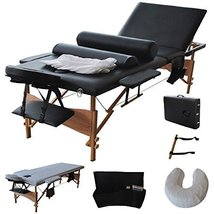 New Fold Massage Table Portable Facial Bed W/sheet+cradle Cover+2 Bolste... - $149.31