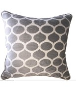 Grey and Off White Chenille Pillow From Belgium - $145.00