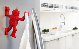 Robot Key Hanger Home Design Gifts Funky Hook Magnet & kitchen Tools Tow... - $20.96