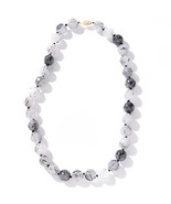"Faceted Black Rutilated Quartz Bead 14K 18"" Ne... - $65.00"