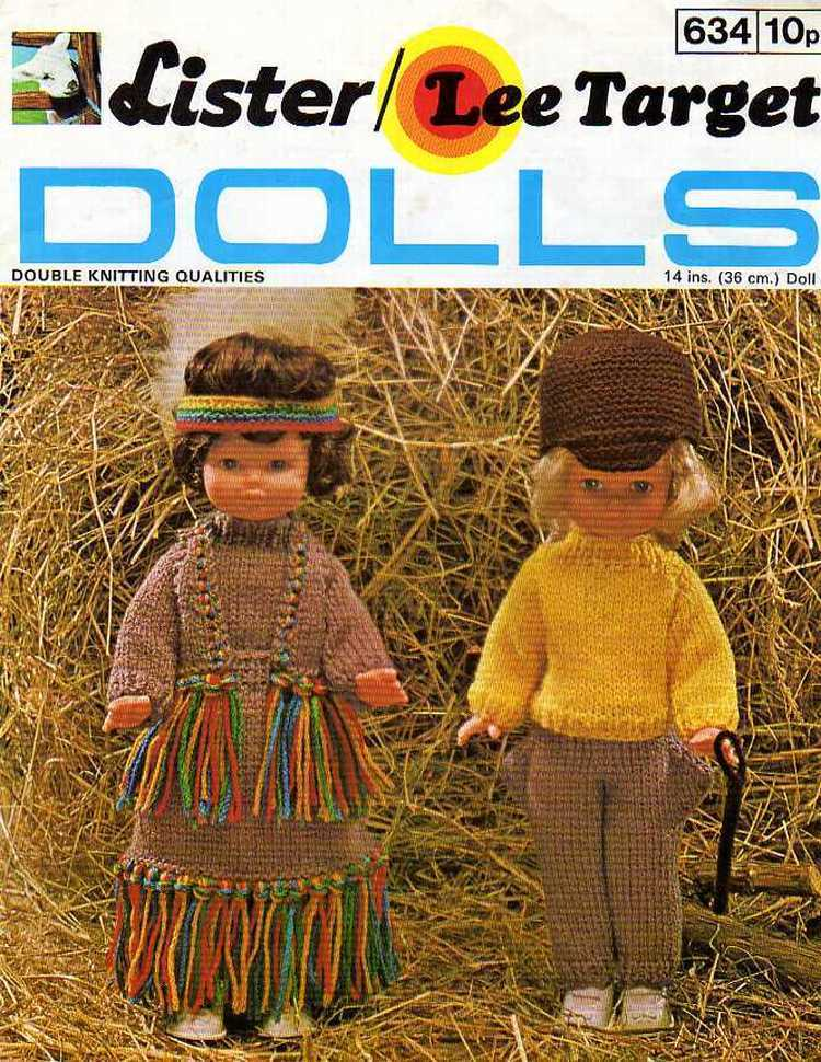 Vintage Knitting pattern Dolls Indian outfit or Riding outfit. Lister 634. PDF Lister Lee Target