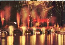 Germany, Heidelberg, Schlossbeleuchtung und Feuerwerk, used Postcard  - $4.25