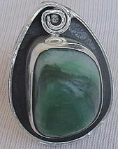 Green glass hand made ring GHM 10  - $45.00