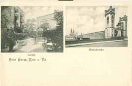 Germany, Hotel Ernst, Koln am Rhein, Garten, Rheinbrucke, early 1900s Po... - $24.99