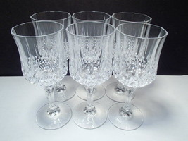 "6 Cristal d'Arques Longchamp VERY RARE  8"" Goblets ~~ u never see these ... - $74.95"