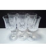 """6 Cristal d'Arques Longchamp VERY RARE  8"""" Goblets ~~ u never see these ... - $74.95"""