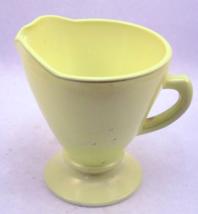 Vintage Hazel Atlas Ovide Platonite glass cream... - $8.00