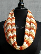 CROCHET PATTERN - Pumpkin Spice Infinity Scarf,  women's accessories, fa... - $3.99