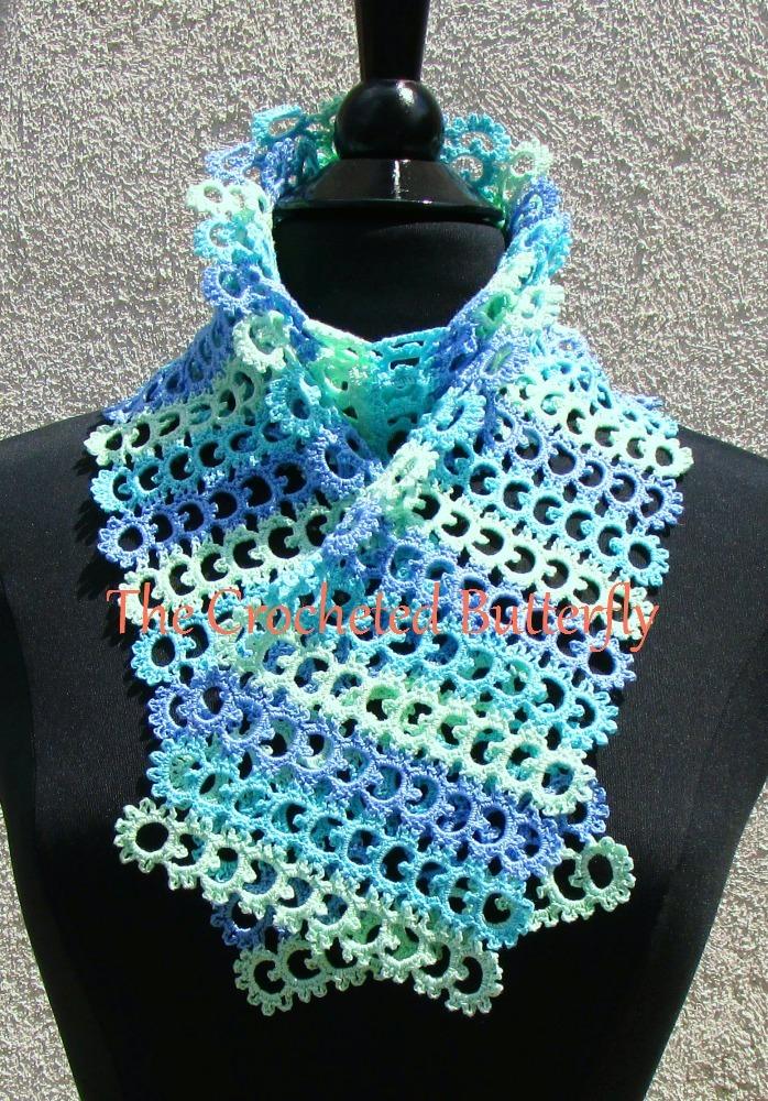 CROCHET PATTERN - Sea Breeze Scarf, women's accessory, fashion, handmade
