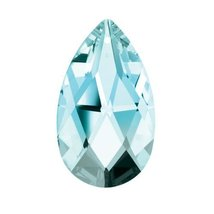 "Swarovski Strass Crystal 2"" Antique Green Almond Prism Charm Amazing Shine - $15.75"