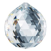Swarovski Strass 70mm Clear Prism Crystal Ball Feng Shui Pendant Rainbow Maker - $119.85
