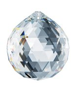 Swarovski Strass 70mm Clear Prism Crystal Ball Feng Shui Pendant Rainbow... - $119.85