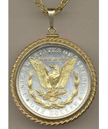 U.S..Morgan Silver dollar (reverse)  coin jewelry pendant necklace - $297.00
