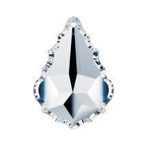 "Swarovski Crystal 3"" Clear Faceted Pendeloque Prism Chandelier Part Part... - $22.65"