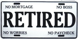 Retired Front Front Funny License Plate 6x12 [A... - $6.92