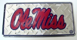 Ole Miss Diamond Cut NCAA Tin License Plate [Ki... - $6.92