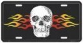 Skull and Flames License Plate [Automotive] - $6.92