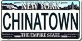 Chinatown New York License Plate - $9.89