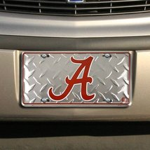 Alabama Crimson Tide License Plate (Diamond Pla... - $7.91