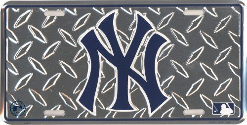 New York Yankees Diamond Metal License Plate [Automotive]