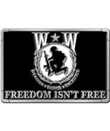 "Wounded Warrior Belt Buckle 3 1/8"" - $18.80"