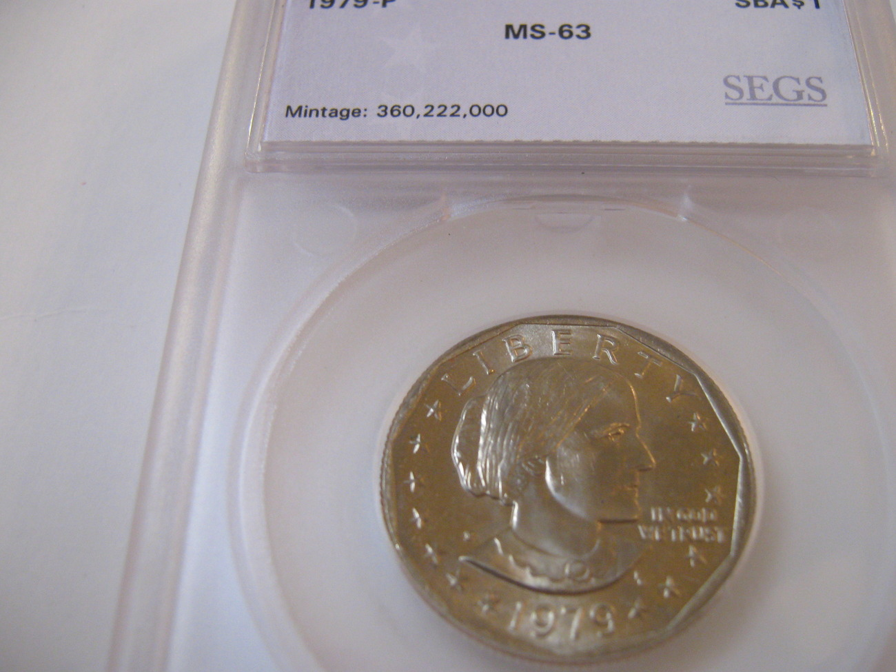 Primary image for 1979-P , Susan B. Anthony Dollar  , Beautiful Coin , SEGS , MS-63
