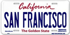 San Francisco License Plate - $8.90