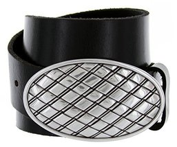Italian Artisan-Oval Basket Weave Buckle With One Piece Full Grain Solid Cowh... - $34.60