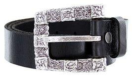 Squares Belt Buckle Casual Jean Leather Belt [Apparel] - $42.52