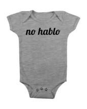 Funny Baby Onesie No Hablo Baby Creeper Baby Shower Gift Cute Baby Clothes #Baby - $15.00