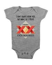 Funny Baby Onesie Dos Boobies Baby Creeper Baby Shower Gifts Newborn #Leche #Mom - $15.00