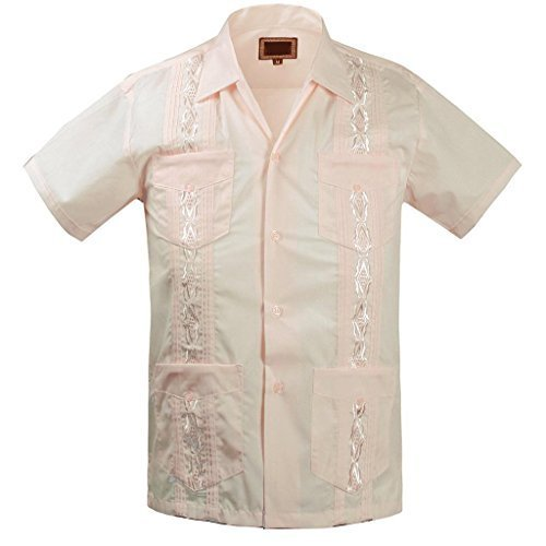 Guayabera Kids Toddler Junior Beach Wedding Baptism Button-Up Casual Dress Shirt