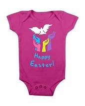 Easter Baby Onesie Happy Easter Hands Baby Creeper Baby Shower Gifts #Easter - $15.00