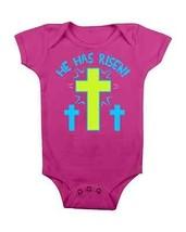 Easter Baby Onesie He Has Risen  Baby Creeper Baby Shower Gifts Newborn #Easter - $15.00
