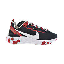 Nike React Element 55 Women's Shoes Black-White-Gym Red BQ2728-009 - $130.00