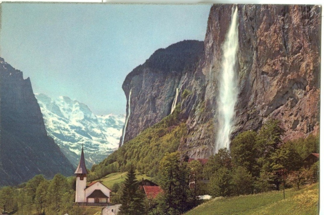 Germany, Lauterbrunnen mit Staubbach, Grosshorn, unused Postcard