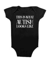 Autism Baby Onesie This Is What Autism Looks Like #Autism Baby Stuff Baby Shower - $15.00